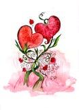 Two loving heart's vector illustration