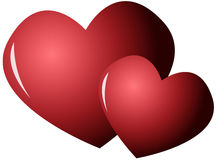Two loving hearts Stock Images