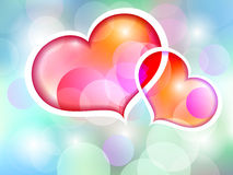 Two loving hearts Royalty Free Stock Photo