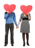 Two loving hearts Royalty Free Stock Images