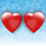 Two loving hearts Royalty Free Stock Photography