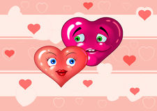 Two loving hearts Royalty Free Stock Image