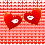 Two loving hearts together Royalty Free Stock Image