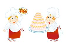 Two lucky cooks Royalty Free Stock Image