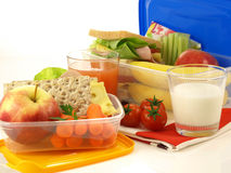 Two lunch boxes, isolated Royalty Free Stock Images