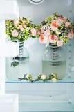 Two lush bridal bouquet Royalty Free Stock Photo