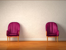 Two luxurious chairs Stock Photography