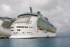 Two Luxury Cruise Ships Under Cloudy Sky Royalty Free Stock Photo