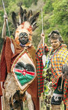 Two Maasai with his face painted Stock Photography