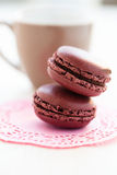 Two macaroons Royalty Free Stock Photos