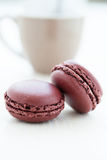 Two macaroons Royalty Free Stock Photography