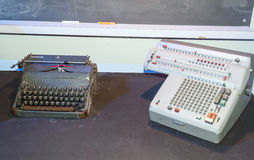Two machines of ancient writing. On a table Royalty Free Stock Photos