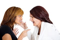 Two mad angry women arguing Stock Photography