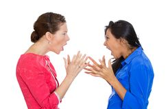 Two mad women Stock Photo