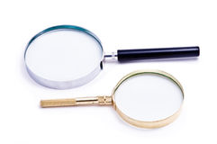Two magnifying glass Royalty Free Stock Photos