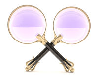 Two magnifying glass Royalty Free Stock Photo