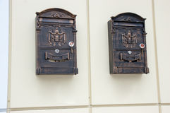 Two mailboxes Royalty Free Stock Image