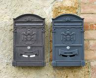 Two mailboxes Royalty Free Stock Photo