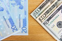Two major currencies Stock Images