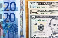 Two major currencies Royalty Free Stock Image