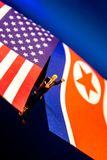 America and North Korea. Two of the major subjects in the news these days, America and North Korea royalty free stock photography