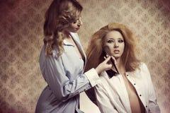 Two make-up girls Stock Image