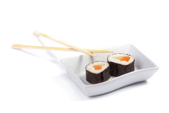 Two maki sushi Royalty Free Stock Images