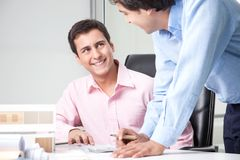 Two Male Architects at Workplace stock photos