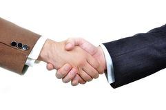 Two male business people hands Stock Image