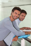Two male colleagues Royalty Free Stock Photos