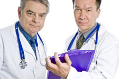 Two Male Doctors Royalty Free Stock Photos