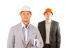 Two Male Engineers in Half Body Portrait Stock Photos