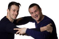 Two male friends Stock Images