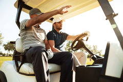 Two male golfers Royalty Free Stock Photos