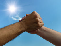 Two male hands Stock Image