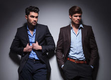 Two male models looking away Stock Photography
