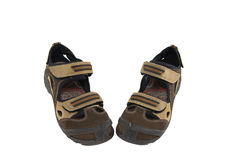 Two male sandals. On white background isolated Royalty Free Stock Image