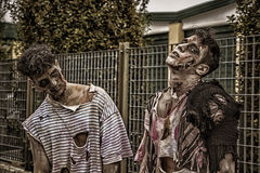 Free Two Male Zombies Standing In Empty City Street Royalty Free Stock Photography - 78087857
