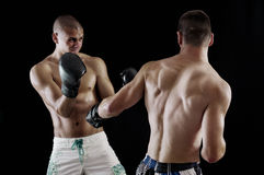 Two man boxing Stock Images