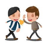 Two Man Couple Celebrating Hand Stock Images