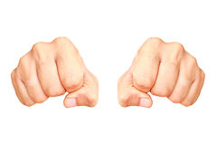 Two man fist Stock Photography