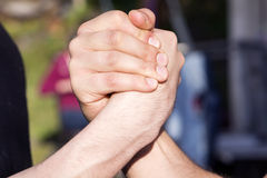 Two man hands handshaking Royalty Free Stock Photo