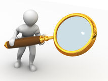 Two man with loupe. Search Stock Images