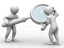 Two man with loupe. Search Stock Photos
