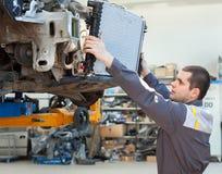 Two man mechanics working Royalty Free Stock Photos