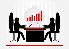 Two man in office. With computer Royalty Free Stock Photography