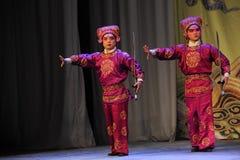 Two man - Opera: Chu Han contention. Nanchang - May 17th: Jiangxi Peking Opera Troupe of Chu Han contention Chinese in Nanchang theatre in May 17, 2014 in China Royalty Free Stock Photos