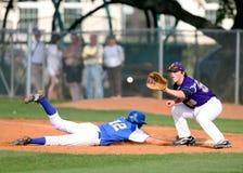 Two Man Playing Baseball during Daytime Stock Photos