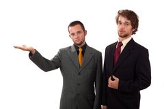 Two man standing Royalty Free Stock Photos