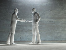 Two man about to shake hands art Royalty Free Stock Images